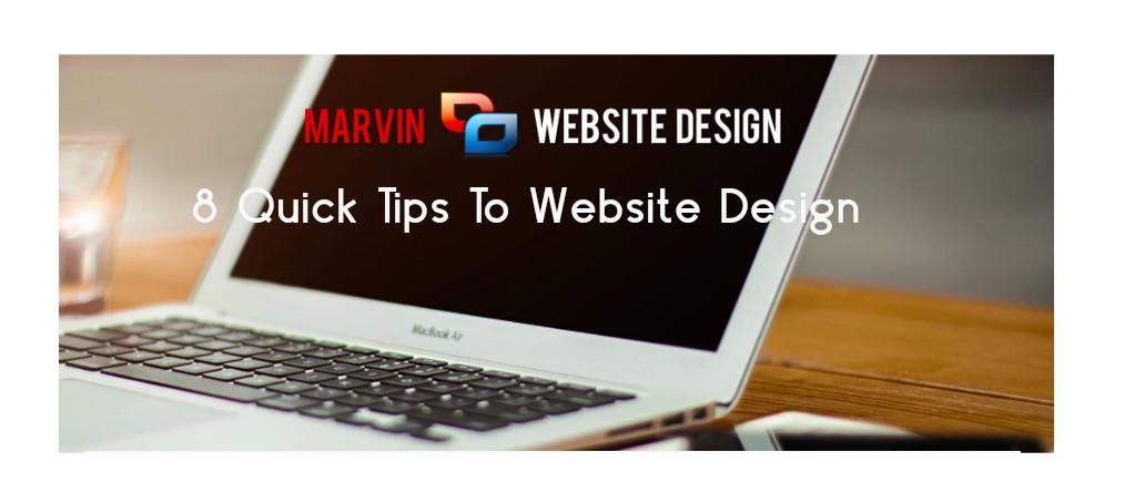 8 Quick Tips To Website Design